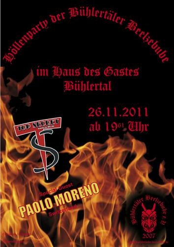 Flyer Höllenparty der Beelzebube in Bühlertal